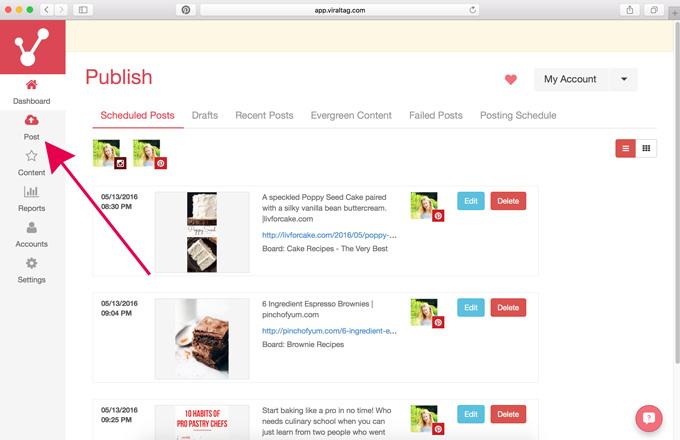 Среди полезных функций Viral Tag - нахождение качественных постов и другого полезного контента